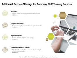 Additional Service Offerings For Company Staff Training Proposal Ppt Powerpoint Design