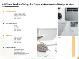 Additional Service Offerings For Corporate Business Card Design Services Ppt Gallery