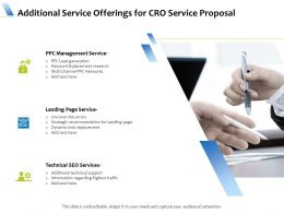 Additional Service Offerings For CRO Service Proposal Ppt Powerpoint Model Picture