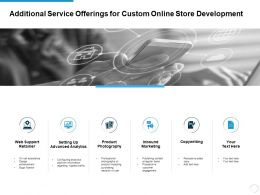 Additional Service Offerings For Custom Online Store Development Ppt Slide
