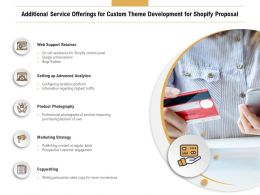 Additional Service Offerings For Custom Theme Development For Shopify Proposal Ppt Slides