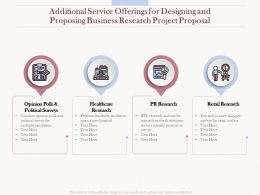 Additional Service Offerings For Designing And Proposing Business Research Project Proposal Ppt Tips