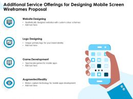 Additional Service Offerings For Designing Mobile Screen Wireframes Proposal Ppt Outline