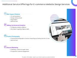 Additional Service Offerings For E Commerce Website Design Services Ppt Styles Master Slide