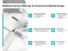 Additional Service Offerings For Ecommerce Website Design Ppt Slide