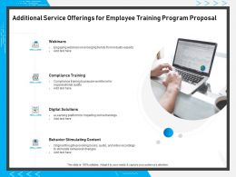 Additional Service Offerings For Employee Training Program Proposal Ppt Powerpoint Presentation