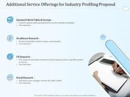 Additional Service Offerings For Industry Profiling Proposal Ppt Powerpoint Visual Aids