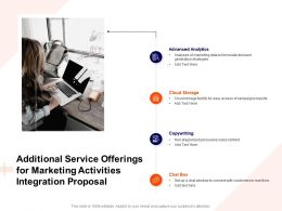 Additional Service Offerings For Marketing Activities Integration Proposal Ppt Background