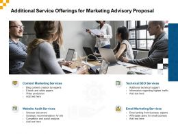 Additional Service Offerings For Marketing Advisory Proposal Ppt Powerpoint Ideas