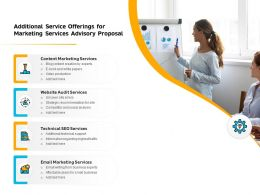 Additional Service Offerings For Marketing Services Advisory Proposal Ppt Templates