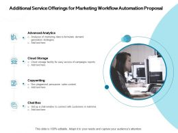 Additional Service Offerings For Marketing Workflow Automation Proposal Analytics Ppt Presentation Sample