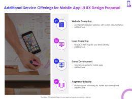 Additional Service Offerings For Mobile App Ui UX Design Proposal Ppt Powerpoint Presentation Slide