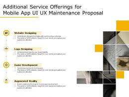 Additional Service Offerings For Mobile App UI UX Maintenance Proposal Ppt Infographics