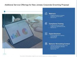 Additional Service Offerings For New Joinees Corporate Grooming Proposal Ppt Grid