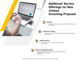 Additional Service Offerings For New Joinees Grooming Proposal Ppt Presentation Ideas