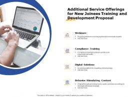 Additional Service Offerings For New Joinees Training And Development Proposal Ppt Grid