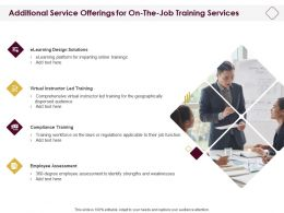 Additional Service Offerings For On The Job Training Services Ppt File Files