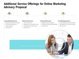 Additional Service Offerings For Online Marketing Advisory Proposal Ppt Outline