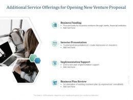 Additional Service Offerings For Opening New Venture Proposal Ppt Presentation Ideas