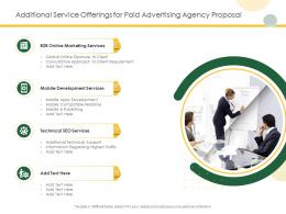 Additional Service Offerings For Paid Advertising Agency Proposal Ppt Powerpoint Model Deck