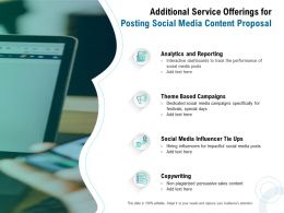 Additional Service Offerings For Posting Social Media Content Proposal Ppt Presentation Files