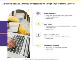 Additional Service Offerings For Presentation Design Improvement Services Ppt Slides