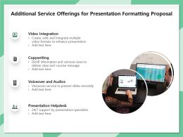 Additional Service Offerings For Presentation Formatting Proposal Ppt Template