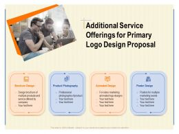 Additional Service Offerings For Primary Logo Design Proposal Ppt Powerpoint Presentation