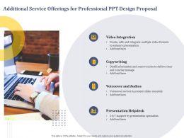 Additional Service Offerings For Professional Ppt Design Proposal Information Ppt Presentation Sample