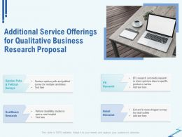 Additional Service Offerings For Qualitative Business Research Proposal Ppt File Aids