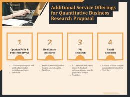 Additional Service Offerings For Quantitative Business Research Proposal Ppt Layouts