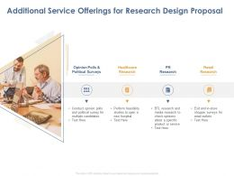Additional Service Offerings For Research Design Proposal Ppt Powerpoint Pictures
