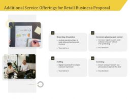 Additional Service Offerings For Retail Business Proposal Ppt Outline
