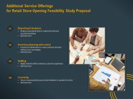 Additional Service Offerings For Retail Store Opening Feasibility Study Proposal Ppt Layout