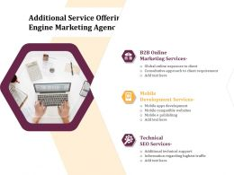 Additional Service Offerings For Search Engine Marketing Agency Services Ppt Clipart