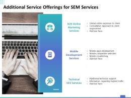 Additional Service Offerings For SEM Services Ppt Powerpoint Presentation Portfolio Layout