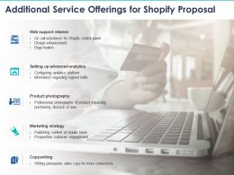 Additional Service Offerings For Shopify Proposal Ppt Powerpoint Presentation