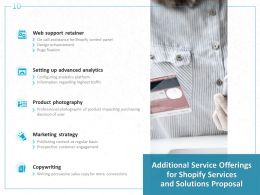Additional Service Offerings For Shopify Services And Solutions Proposal Ppt Powerpoint Presentation