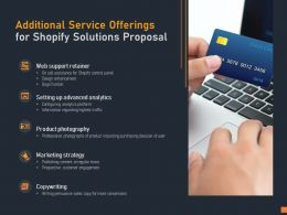 Additional Service Offerings For Shopify Solutions Proposal Ppt Powerpoint Presentation