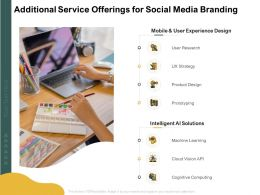 Additional Service Offerings For Social Media Branding Ppt Powerpoint Layouts