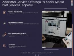 Additional Service Offerings For Social Media Post Services Proposal Ppt Presentation Files