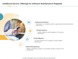 Additional Service Offerings For Software Maintenance Proposal Ppt Inspiration
