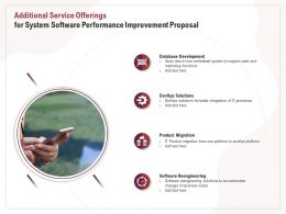 Additional Service Offerings For System Software Performance Improvement Proposal Ppt Inspiration