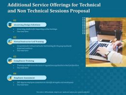 Additional Service Offerings For Technical And Non Technical Sessions Proposal Ppt File Topics