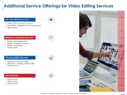 Additional Service Offerings For Video Editing Services Ppt Powerpoint Presentation Styles