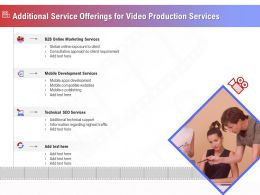 Additional Service Offerings For Video Production Services Ppt Ideas