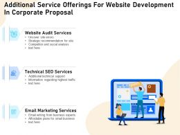 Additional Service Offerings For Website Development In Corporate Proposal Ppt File Aids