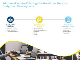 Additional Service Offerings For Wordpress Website Design And Development Ppt Portfolio