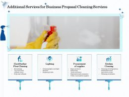 Additional Services For Business Proposal Cleaning Services Ppt Ideas