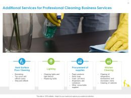 Additional Services For Professional Cleaning Business Services Lighting Ppt Layouts
